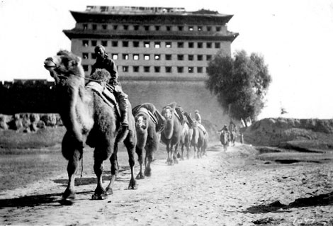Qianmen Gate and Camels – Peking