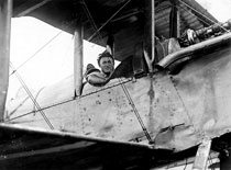 Frank flying DH 4A - August 3, 1920