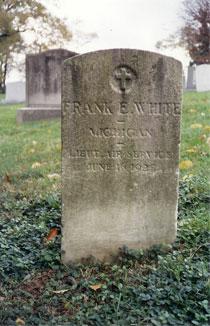 Frank's grave in Arlington Cemetary