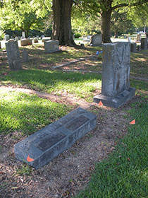 Graves of Homer and Parents, James & Lorena Anderson