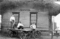 Pontotoc, Mississippi Depot Circa 1918