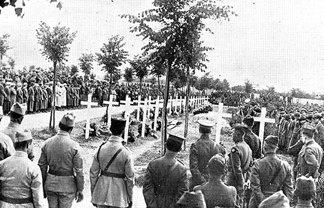 Memorial Day at St. Lazare Cemetery, Bourges, May 30, 1919
