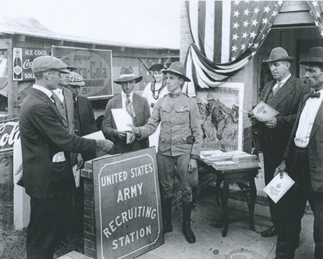 Enlistment Booth at the Tri-State Midsouth Fair in Memphis