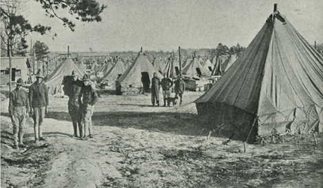 Living Quarters at Camp Sevier