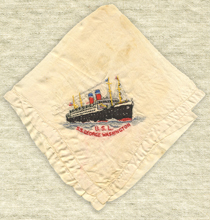 U.S.L. George Washington Souvenir Handkerchief