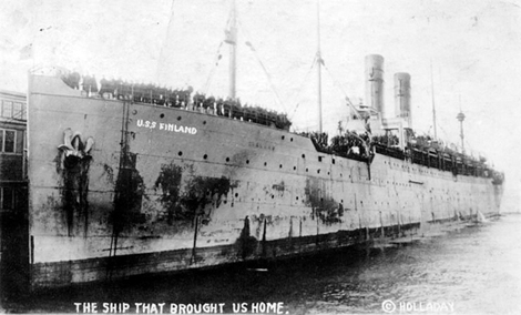 U.S.S. Finland Docked at Newport News on March 23, 1919