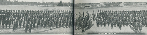114th Field Artillery, Camp Forrest, Fort Oglethorpe, GA on April 6, 1919.