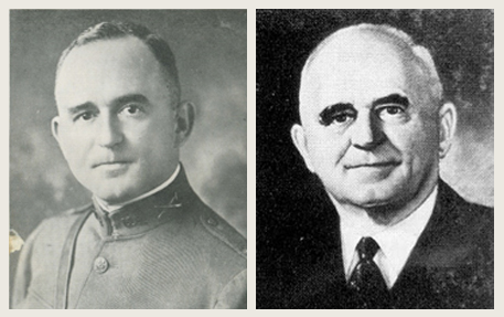 Captain Walter Chandler (left) and Mayor Walter Chandler (right)