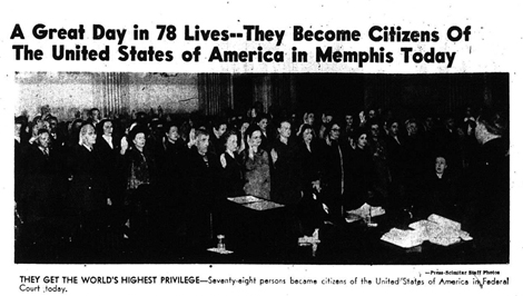 Citizenship Ceremony, December 19, 1951