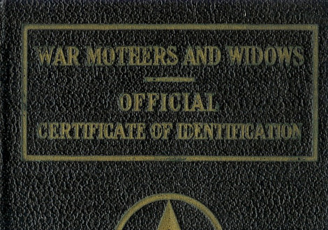 War Mothers and Widows Passport Cover