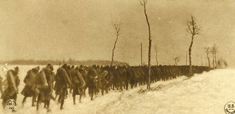 Troops in the Snow