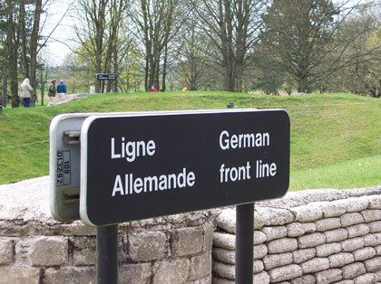 Vimy Ridge German Front Line in 2005