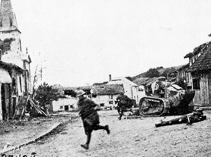 Road in Exermont in 1918