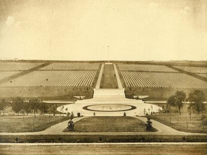 Meuse-Argonne American Cemetery in 1930
