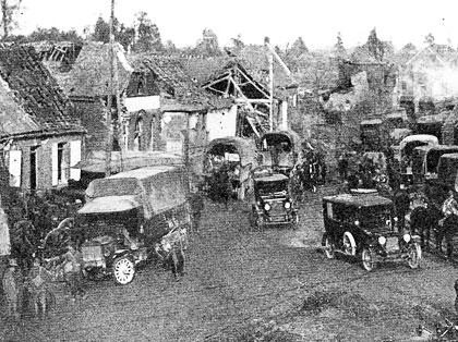 Montbrehain Traffic in 1918