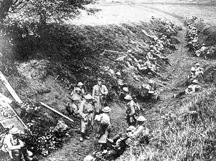 Near the Premont Front Line in 1918