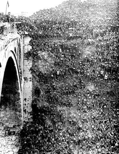 St. Quentin Canal at Riqueval Bridge in 1917