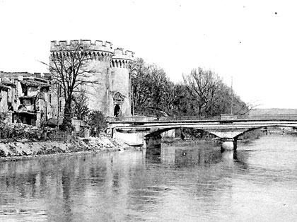Verdun - Pont Chaussee in 1918