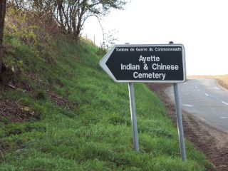 Road Sign to Ayette Cemetery