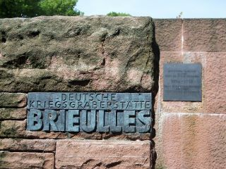 Brieulles German Cemetery Sign
