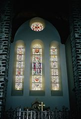 St. George's Church Stained Glass - Ypres, Belgium